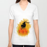 native V-neck T-shirts featuring Native by Max Wellsman