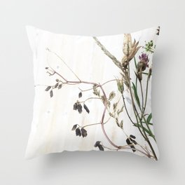 Seed pods Throw Pillow