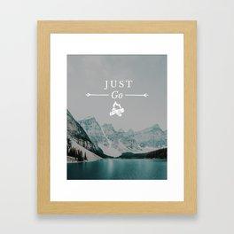 Just Go - Moraine Lake Framed Art Print