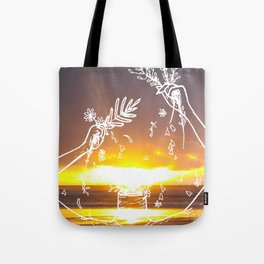 The Beauty of a Sunset Tote Bag