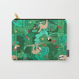 Sloths in the Emerald Jungle Pattern Carry-All Pouch
