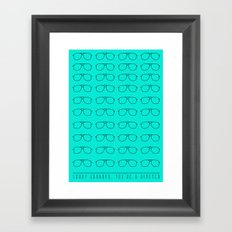 Sorry grandpa, you're a hipster. Framed Art Print