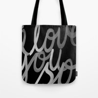 coldplay Tote Bags featuring I Love You So by Cristallums