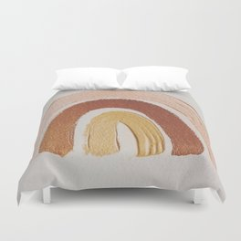 Vintage rainbow painting Duvet Cover