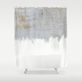 Painting on Raw Concrete Shower Curtain