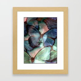 You are my blue butterfly Framed Art Print