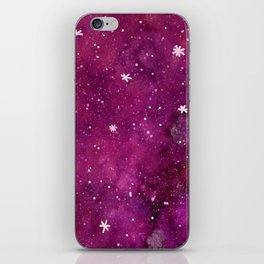 Watercolor galaxy - pink and purple iPhone Skin