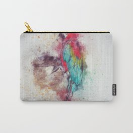 Rainbow Abstract Parrot Carry-All Pouch