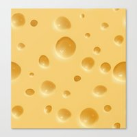 cheese Canvas Prints featuring cheese by rchaem