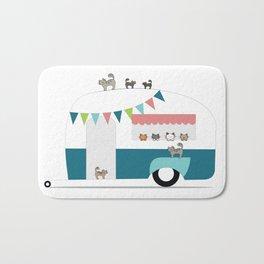 Happy Camper Kitties Bath Mat