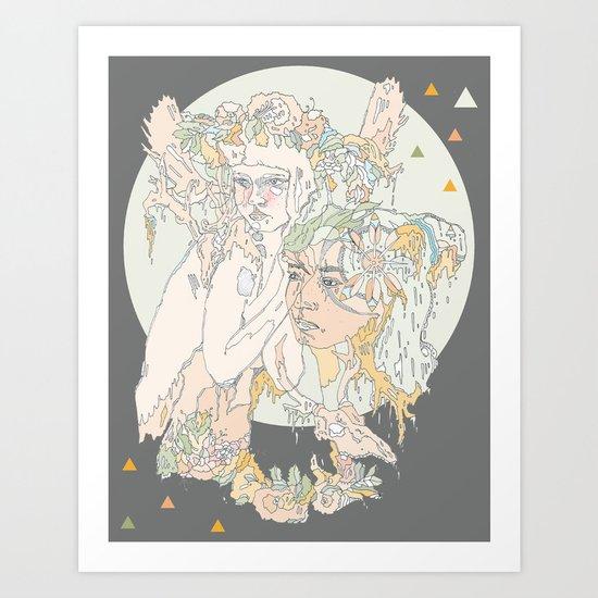 adorned pop Art Print