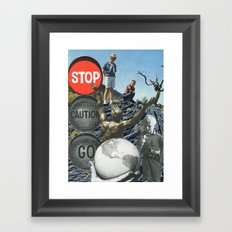 Don't Be Afraid To Take Chances Framed Art Print