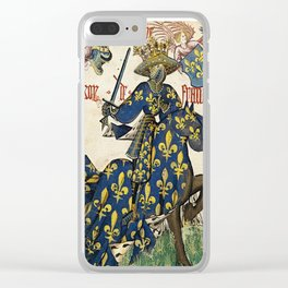 Golden Fleece King of France Clear iPhone Case