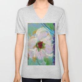 Pink Rose of Peace Unisex V-Neck