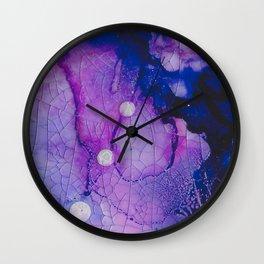Shanti In Deep Purple Wall Clock