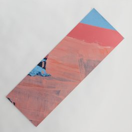 Reveal [4] a minimal abstract mixed-media piece in pinks and blue by Alyssa Hamilton Art Yoga Mat