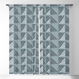 Geometric Angles Blackout Curtain