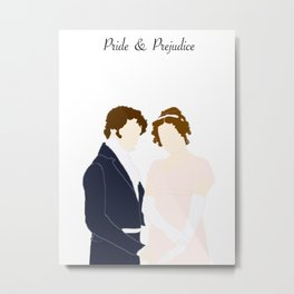 Elizabeth and Mr Darcy Metal Print
