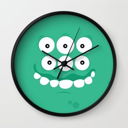 Psychos - Crazy Monsters (Turquoise) Wall Clock