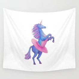Unicorn Ballerina Wall Tapestry