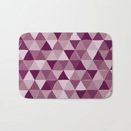 Purple Triangles Bath Mat