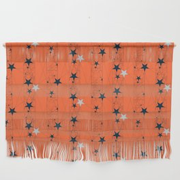 Orange Juice Stars Wall Hanging