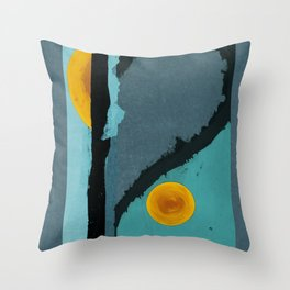 Turquoise Twelve Throw Pillow
