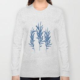 Eucalyptus Branches Blue Long Sleeve T-shirt