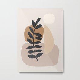 Abstract Art /Minimal Plant 6 Metal Print