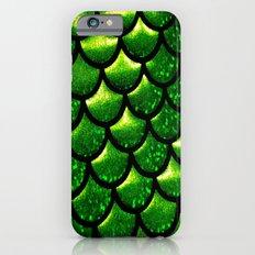 Mermaid Scales - Emerald Green and Black iPhone 6s Slim Case