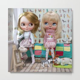 BLYTHE DOLL OLI AND MEGAN ERREGIRO Metal Print