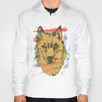 howl Hoodies featuring HOWL by Galvanise The Dog