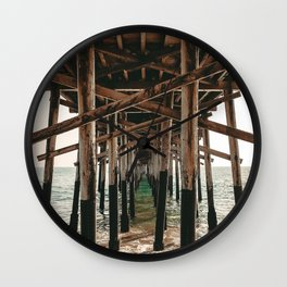 Balboa Pier Print {1 of 3} | Newport Beach Ocean Photography Teal Summer Sun Wave Art Wall Clock