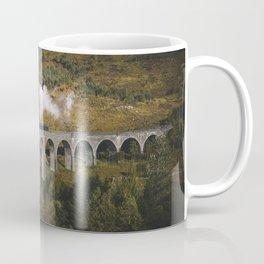 Train on a Glenfinnan Viaduct, Scotland Coffee Mug