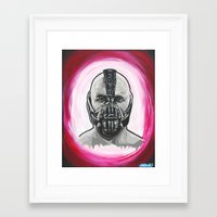 bane Framed Art Prints featuring Bane by Michael J Illustrations
