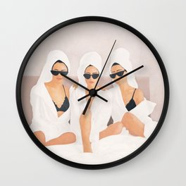 Morning with a friend II Wall Clock