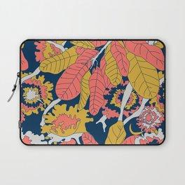 Limited Color Palette Bold Jungle Leaf Floral Laptop Sleeve