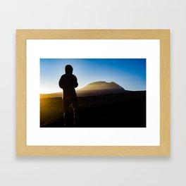 First Light on Kilimanjaro Framed Art Print