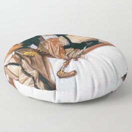 Joseph Christian Leyendecker - Arrow Color - Digital Remastered Edition Floor Pillow