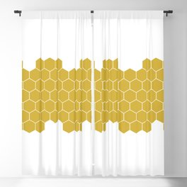 Honeycomb White Blackout Curtain