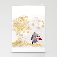 wind Stationery Cards featuring Wind by MARIA BOZINA - PRINT