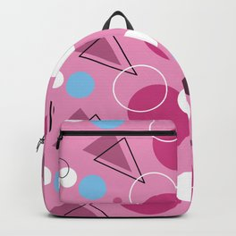 Geometric Pink Backpack