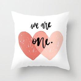 Soul mates hearts Throw Pillow