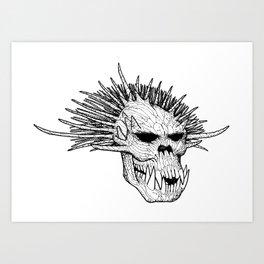 Troll Skull II Art Print