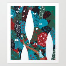 Russian Folk Tales - Tzar of the seas Art Print