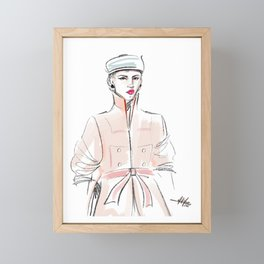 Rosie / Peach Trench Framed Mini Art Print