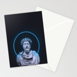 Marcus Aurelius Minimalist Neon Stationery Cards