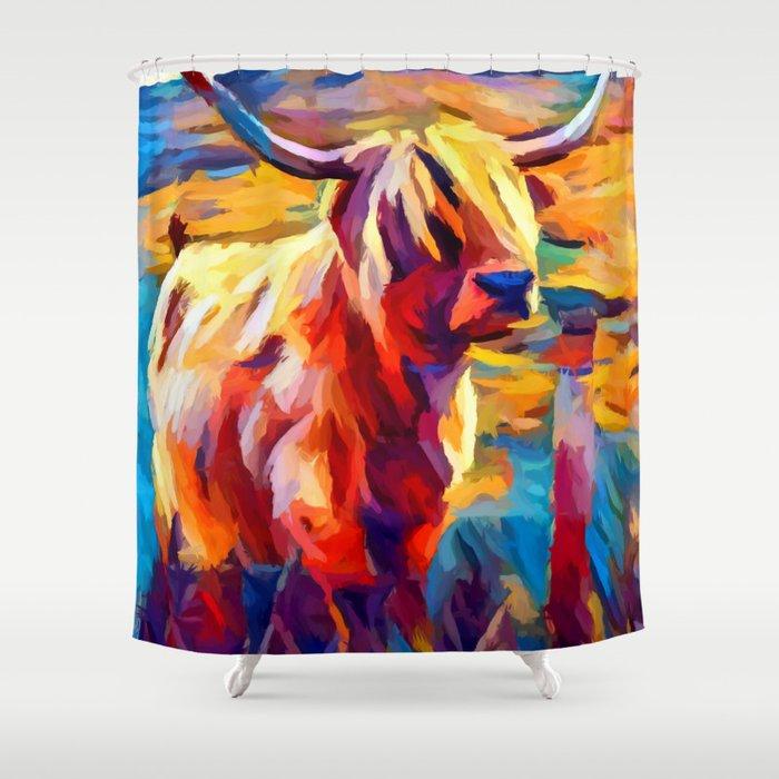 Highland Cow 4 Shower Curtain