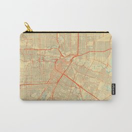 Houston Map Retro Carry-All Pouch