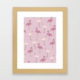 Flamingo Pattern Framed Art Print